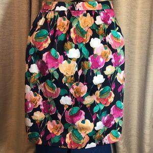 J. Crew   Floral Mini Skirt size 00